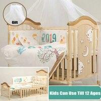 Большой размер детская кровать с москитной сеткой подарок, Сосновая древесина детская кроватка дети могут использовать до 12 лет, детская кр