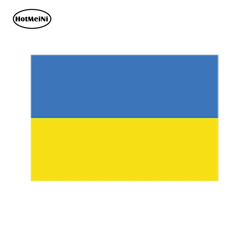 HotMeiNi 13cm x 7cm Car Styling Ukrainian Flag Vinyl Decal Sticker Self Adhesive Ukraine Waterproof Accessories