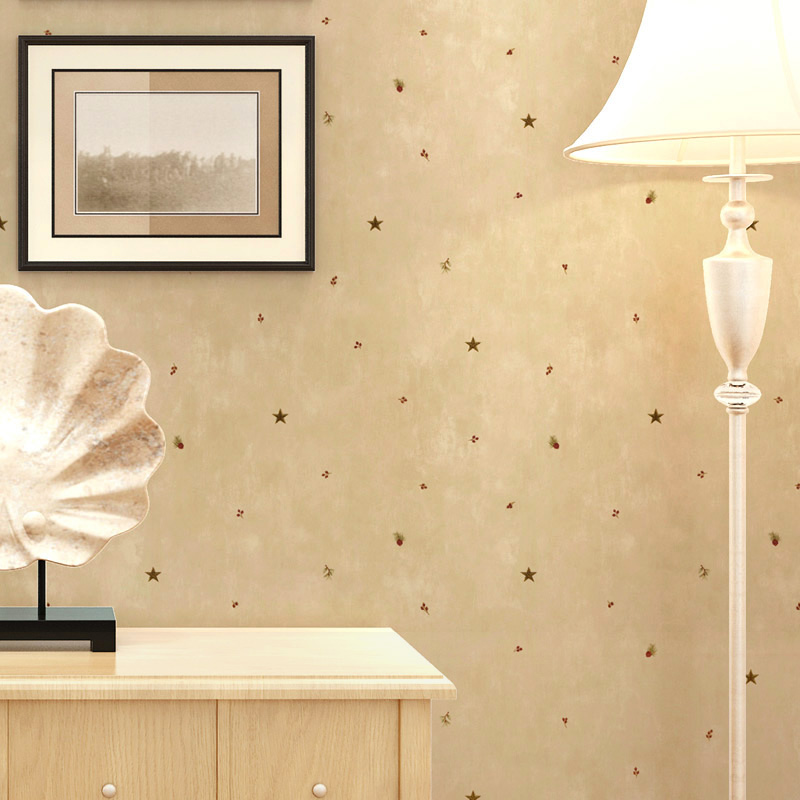 3D Cartoon Stars Pine Cones Children Room Non-woven Printing Wall Paper For Kids Room Bedroom Living Room Decoration Wallpaper beibehang non woven pink love printed wallpaper roll striped design wall paper for kid room girls minimalist home decoration