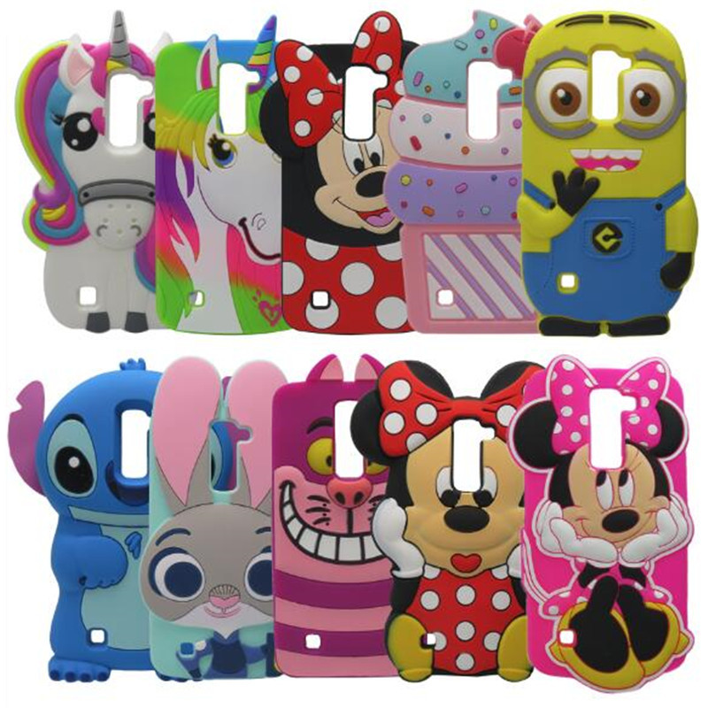 For LG Magna Spirit 3D Cartoon Smiling Minnie Soft Silicone Back Cover Case For LG K7 K8 K10 C70 C90 G4C G4 mini image