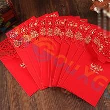 Ретро полые Fu красный конверт большой размер lucky money bag новоселье свадебный китайский подарок на год конверт для денег детский красный карман