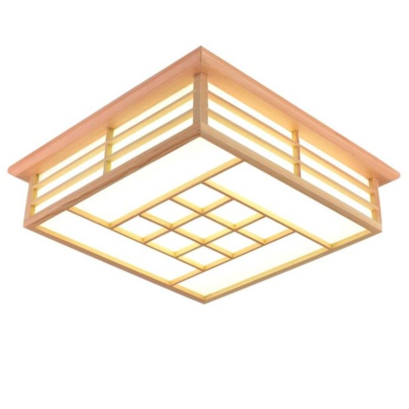 Винтажная китайская панель с цветами из цельного дерева, Светодиодная потолочная лампа для гостиной, ресторана, спальни, чайной комнаты, по
