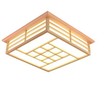 Vintage Chinese pane flower solid wood lamp LED ceiling light living room restaurant bedroom tea room ceiling lamp fixture