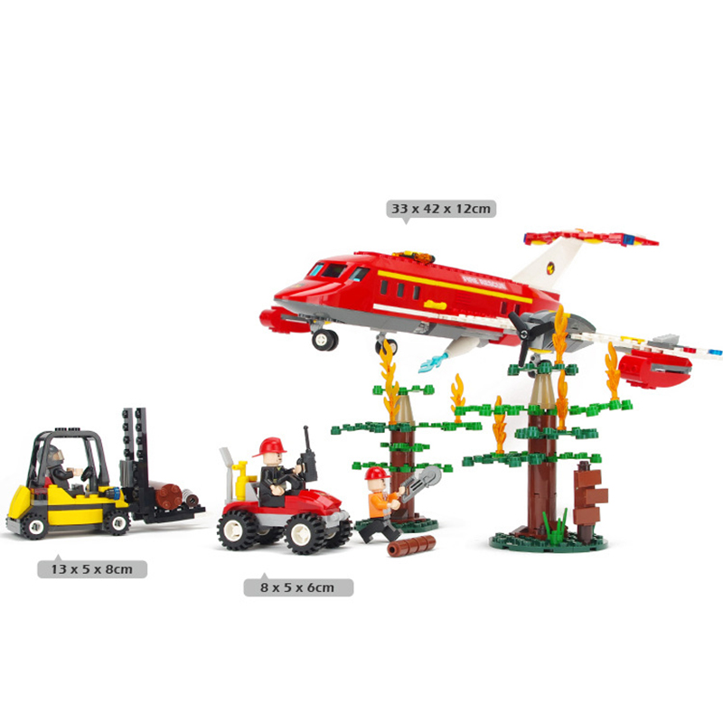 522pcs Fire Airplane Blocks Firefighting Car Toy Children Enlighten Building Bricks Carts Mini Figure Toys for Boys K0403-9216 380pcs fire branch city enlighten bricks toy for children ladder truck building blocks fire fighter figures boys gift k0411 910