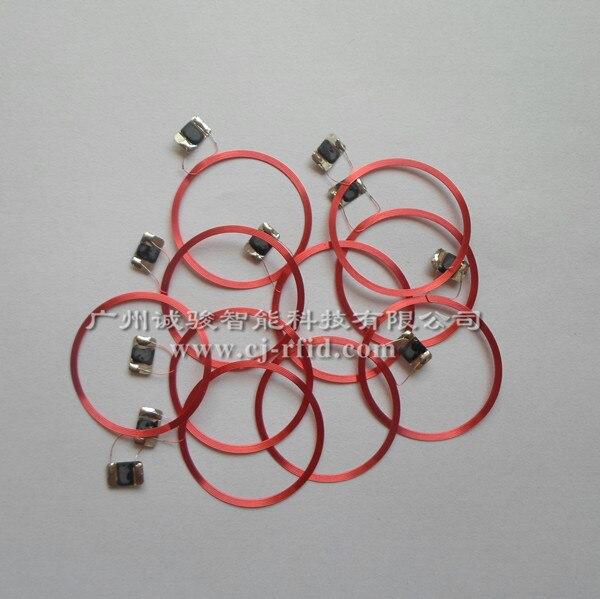 Antenas de bobina de etiqueta, 10 Uds., 13,56 MHZ, chip IC RFID pasivo + material de núcleo de bobina S50