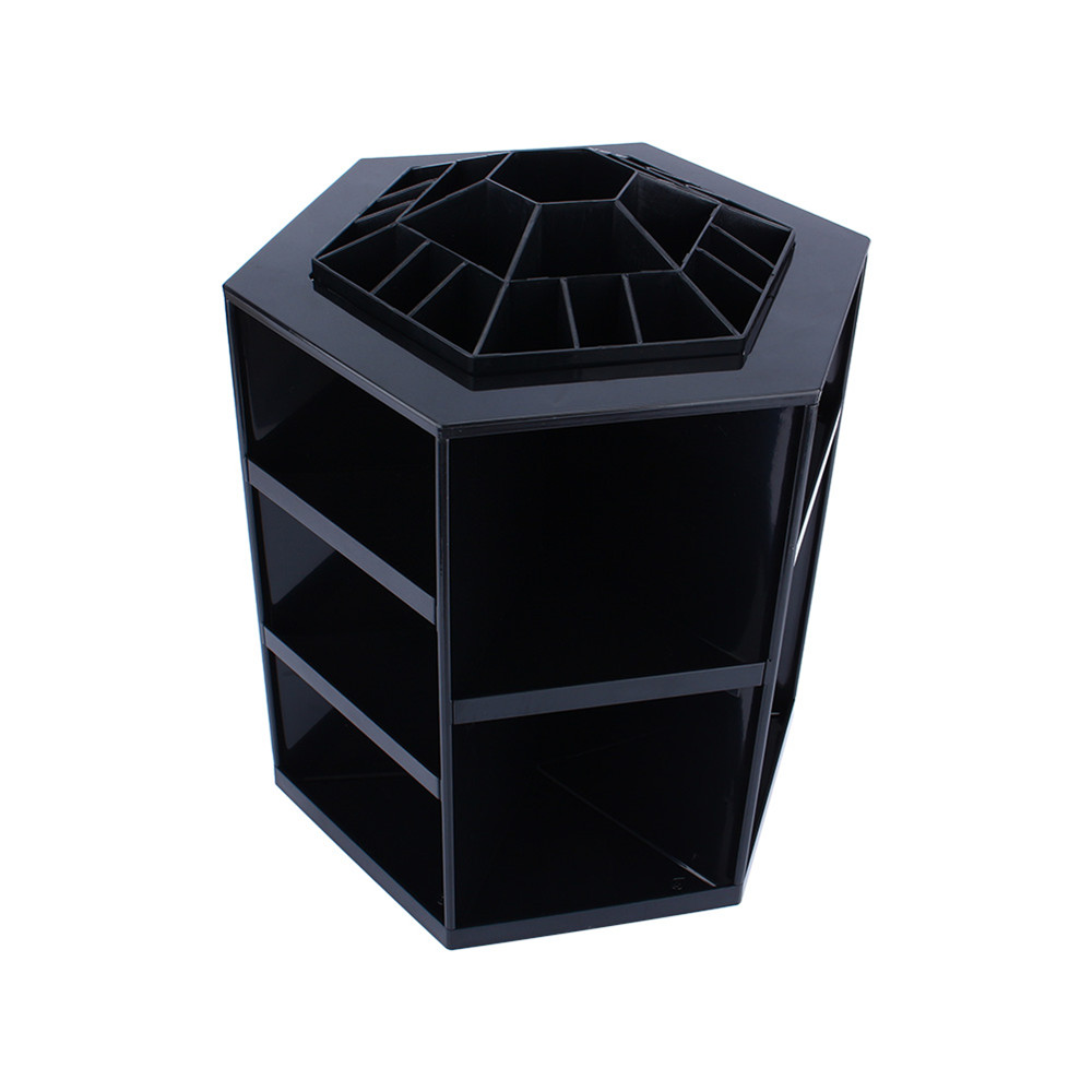 makeup box storage. aliexpress.com : buy 1pcs spinning cosmetic organizer display makeup box case cleanup 360 degree rotating jewelry storage boxes from reliable guitar o