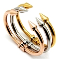 B08 Stainless Steel Bangle Gold Color Bracelet Gold Exquisite Wholesale Nice gift