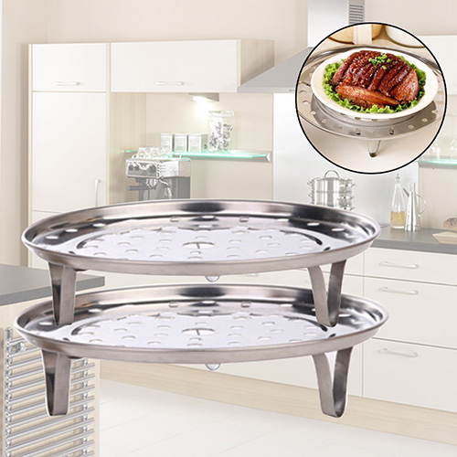 New Stainless Steel Steamer Rack Insert Stock Pot Steaming Tray Stand Cookware Tool 4RF