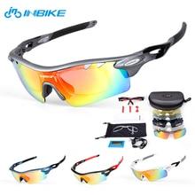 INBIKE Cycling Eyewear Cycling Glasses 5 Lens Cycling Sunglasses Bike Sports Eyewear Bicycle Glasses Polarized Sport Glasses 35