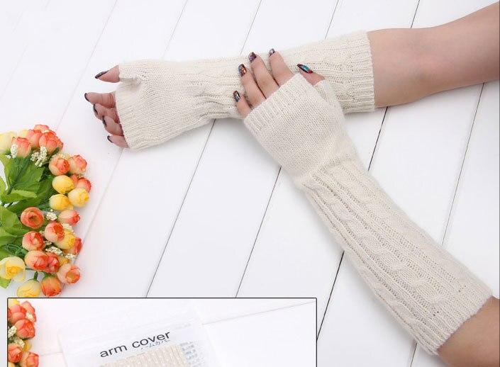 Alta calidad a largo de lana calentadores de brazo Crochet tejer ...