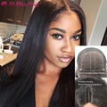 Yaki Straight Silk Top Full Lace Wigs For Black Women Middle Part Lace Human Hair Wig Brazilian Virgin Silk Top Lace Front Wig