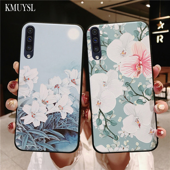 Cases For Samsung A50 2019 3D Rose Flower Painting Coque For Samsung Galaxy A70 A40 A30 A20 A10 M10 M20 2019 A7 2018 Phone Case 1