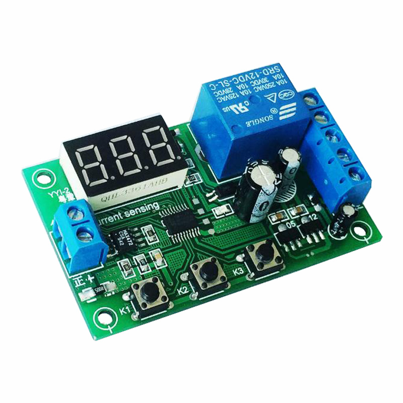 Current Sense Module / Current Limit, Over Current Motor Stall / Protection Board / Current Sensor, 5 12 24 V Relay ime current relay