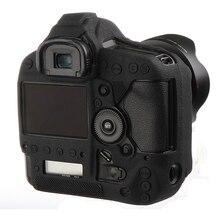Estojo protetor para câmera de silicone, macio, de alta qualidade, capa corporal protetora para câmeras canon chromex jesteś x ii iii 1dxii, bolsa para câmera capa protetora