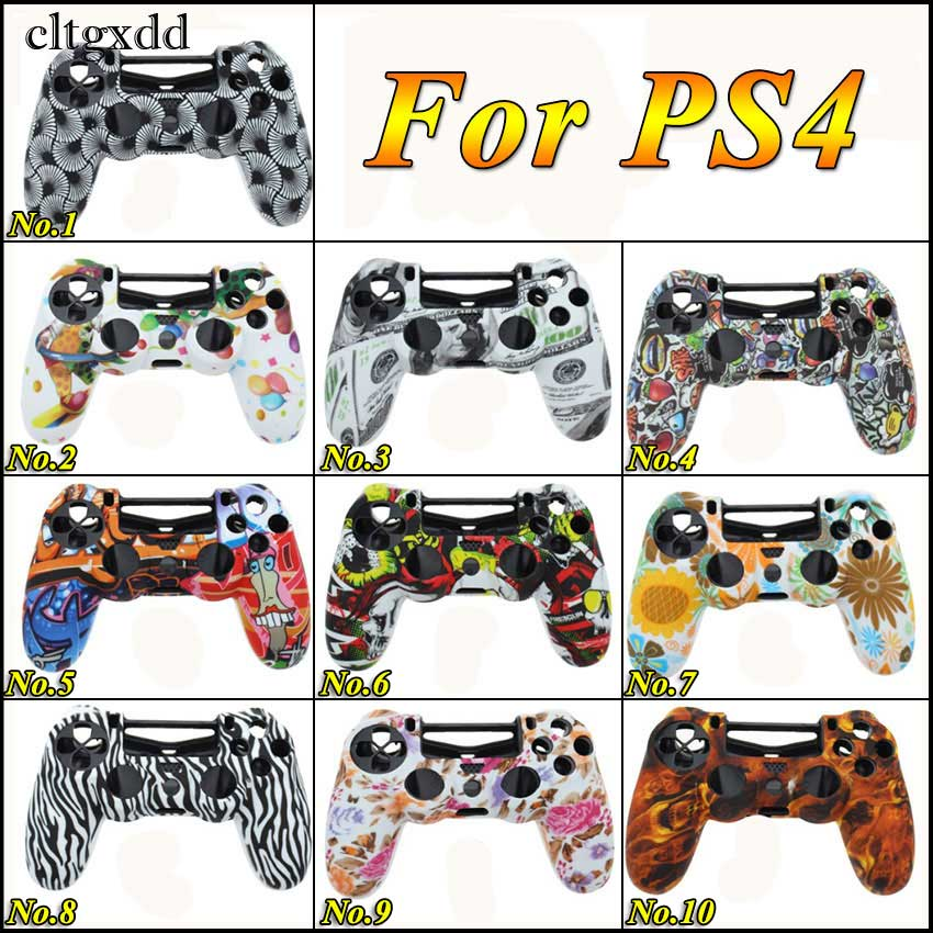 Cltgxdd Camouflage Silicone Protective Skin Cover Case For Sony Playstation PS4 For Dualshock 4 Game Gamepad Joystick