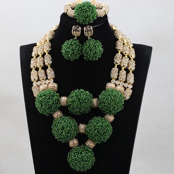 Здесь продается  New Design Magnificent Green Crystal Sets Nigerian African Wedding Bridal/Women Beads Necklace Jewelry Set Free Shipping ANJ293  Ювелирные изделия и часы