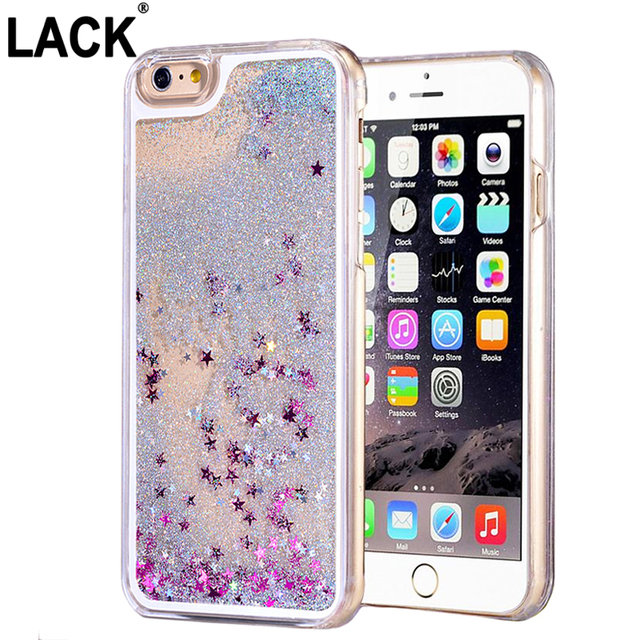 2016 Newest Fashion Fun Glitter Star Liquid Back Case cover for iphone 6 case 4.7 inch transparent clear case Phone Cases Covers