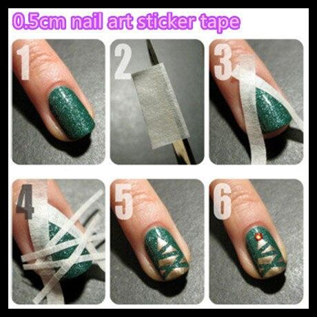 Wuf 1 Pc 17 X 0 5cm French Nails Nail Art Tips Creative Nail Tape