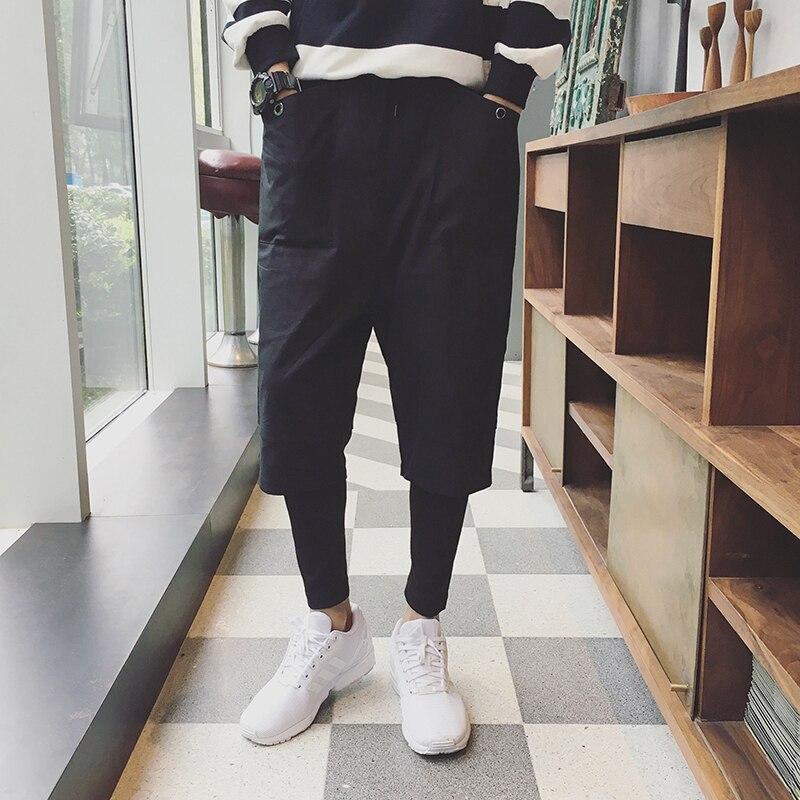 M-2XL! marque de style japonais faux deux petits pieds neuf pantalons pantalons décontractés version coréenne du sarouel lâche jambes pantalons jambes.