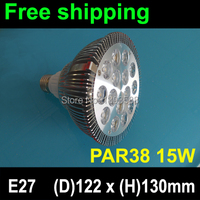 Drop price 2 year warranty free shipping AC85 265V PAR38 E27 15W LED spotlight 15*1W led bulb lamp light free shipping