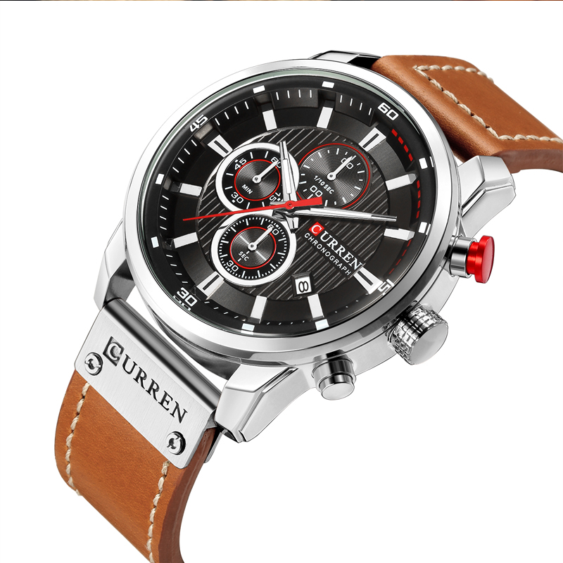 CURREN 8291 Luxury Brand Men Analog Digital Leather Sports Watches Men\`s Army Watch Man Quartz Clock Relogio Masculino drop shipping wholesale cheap 2018 (1)