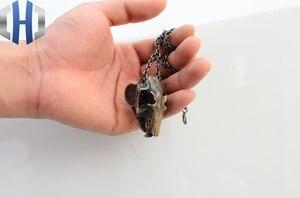 Image 5 - Men And Women Brass Original Handmade Mouse Skull Design Retro Pendant Necklace Keychain Knife Pendant