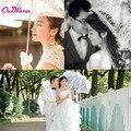 White Lace Umbrella Brand Wedding Decorations Bridal Parasol Umbrella with Long-handle Wedding Favors Highly Quality Wholesale