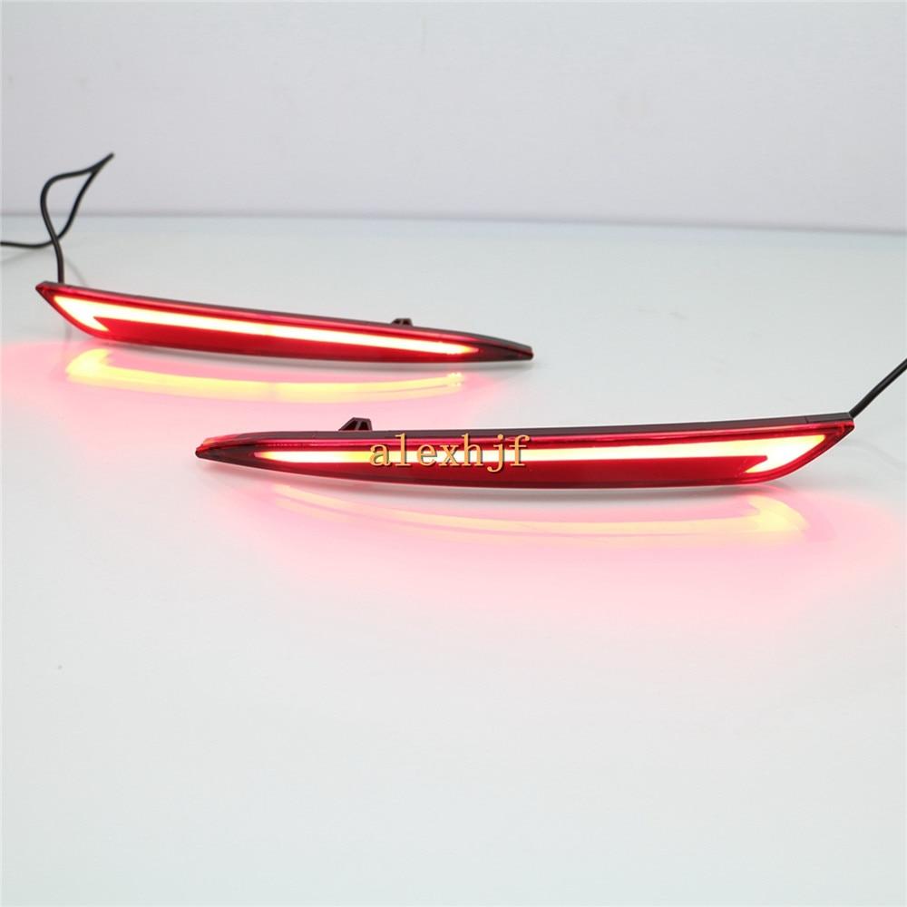 Temmuz Kral LED Işık Kılavuzu Fren Lambaları + Gece Sürüş + - Araba Farları - Fotoğraf 2