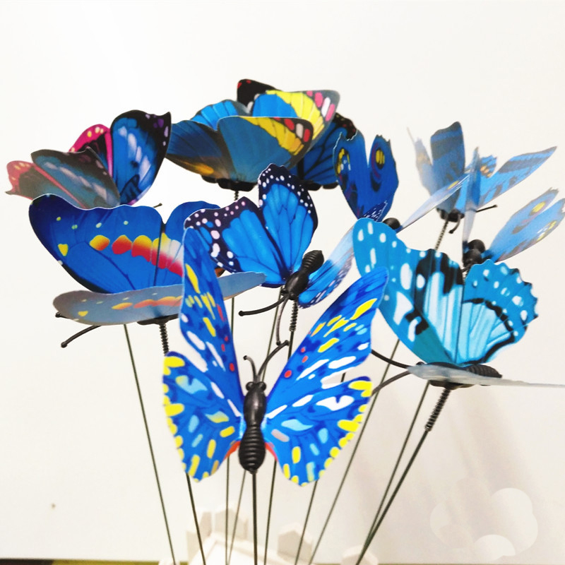 Beau Colourful Garden Plastic Butterflies On Sticks Dancing Flying Fluttering  Butterfly DIY Art Ornament Vase Lawn Garden Decoration On Aliexpress.com |  Alibaba ...