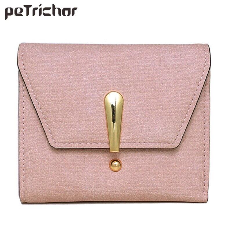 New Designer Luxury Brand Women PU Leather Short Wallets Vintage Small Mini Hasp Purse Ladies Fashion Feminina Coin Pocket Bags