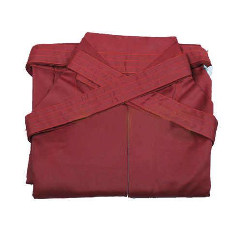 ユニセックス赤高品質の剣道制服日本居合道、合気道袴キュロット武道ズボン hapkido パンツ