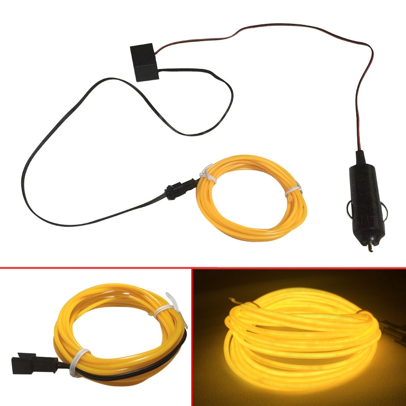 Low Cost 12V 3M/5M Flexible Neon Light Glow EL Wire Rope Tube Line ...