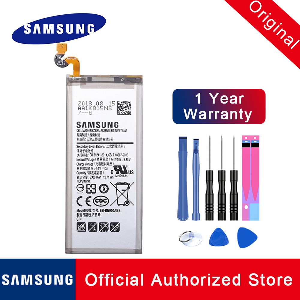 Original Battery EB-BN950ABE For Samsung Galaxy Note 8 N950 N950F N950U N950N 3300mAh Phone Replacement  Batteria + Tools