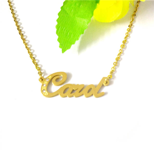 ace0bfe6b FairLadyHood Personalized Custom Name Necklace Carol Letter Name Necklace  Gold Color Chain For Anniversary Gift-in Pendant Necklaces from Jewelry ...