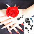 SHNAPIGN маленький черный цветок Flash Hand Sticker 10,5*6 см Водонепроницаемая хна красивый летний Стиль временный боди-арт Бесплатная доставка