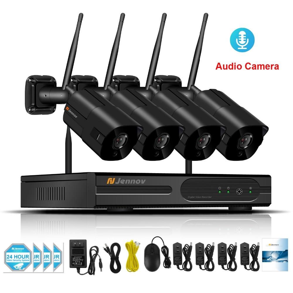 4CH Audio Record Home Wireless Security CCTV Camera System NVR Wifi Video Surveillance Kits 960P 1.3MP Wi-fi Camera HD ip Camera