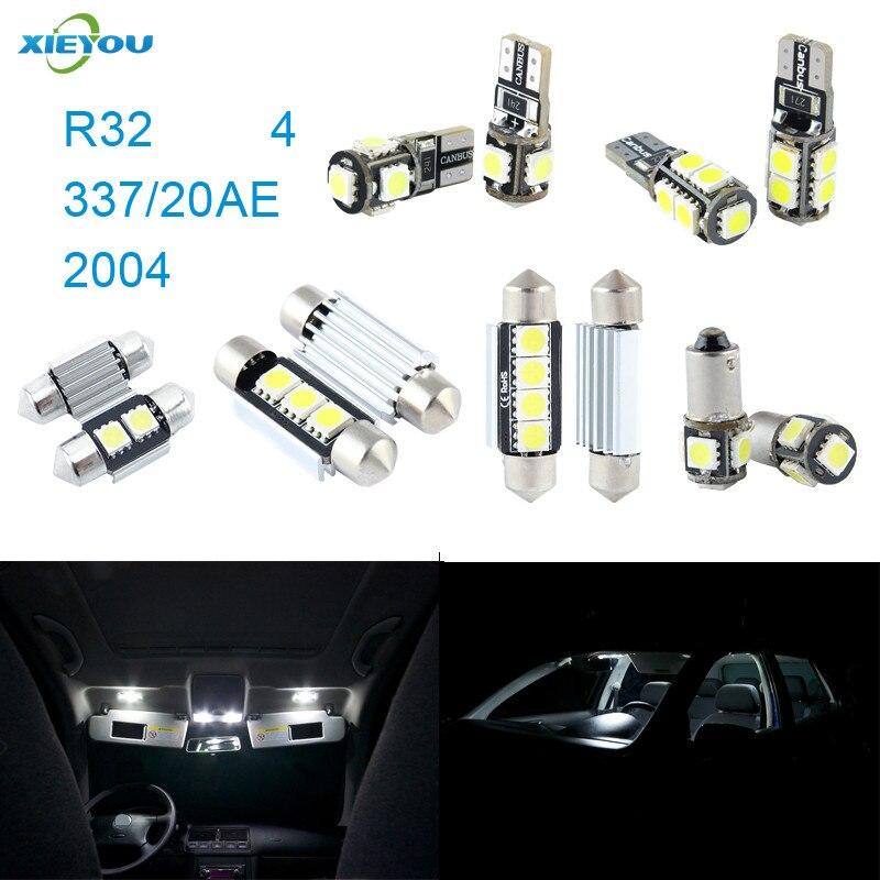 XIEYOU 8ks LED sada pro osvětlení interiéru Canbus pro R32 4 337 / 20AE 2004