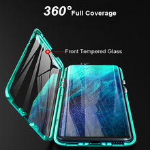 For Oneplus 7 Pro Cases Cover Magnetic Case for One Plus 7 Pro Case Covers Front+Back double-sided Tempered Glass Full Body Case