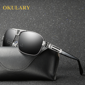 2020 Men Polarized Sunglasses UV400 Driving Glasses Silver/Brown Frame Come with Box - discount item  4% OFF Eyewear & Accessories