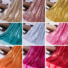 130x50cm DIY 3mm Paillette Sequin Fabric Sparkly Gold Silver Glitter Fabric for Clothes Stage Party Wedding Home Decor