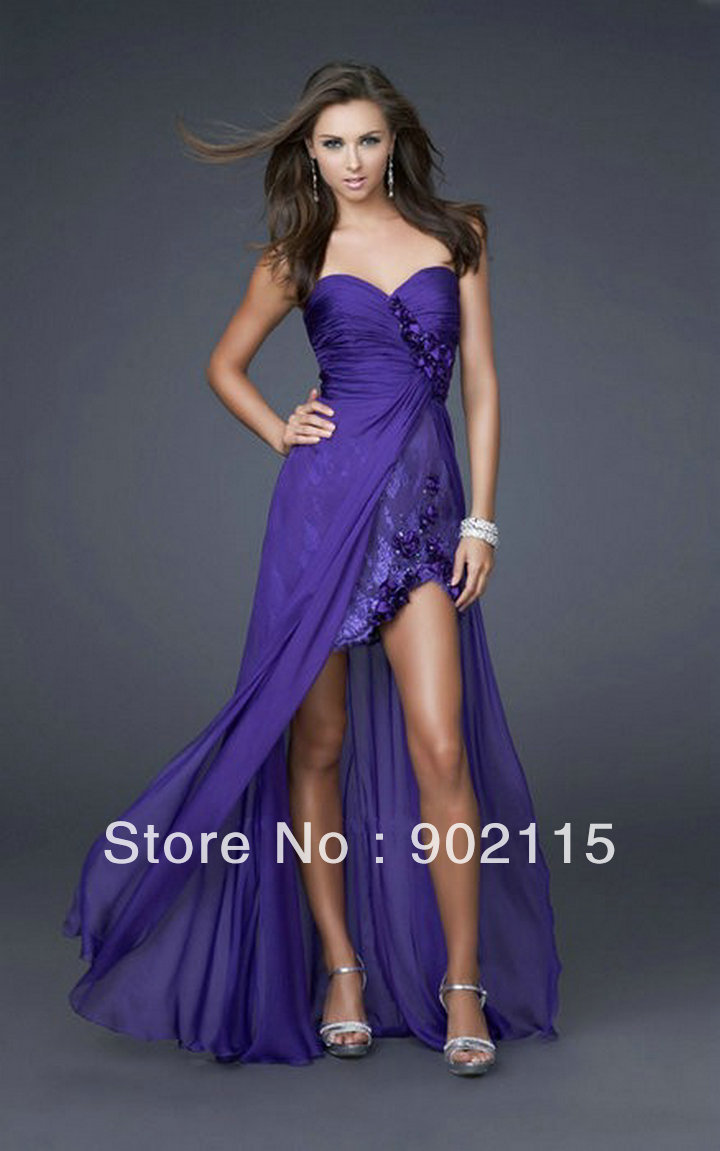 Long Purple short dresses for prom fotos
