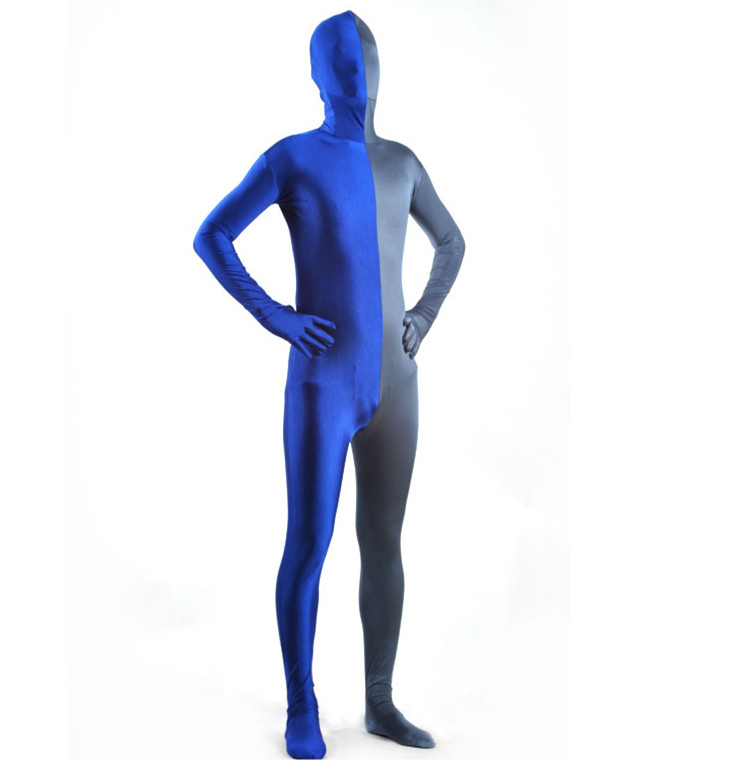 (PHC118) Spandex Nylon Lycra multicolore corps complet seconde peau collants transparents unisexe fétiche Zentai costumes Costume Cosplay