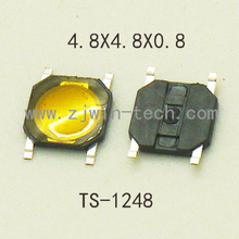 50pcs/lot 4.8X4.8X0.8mm for phone screen push button waterproof Tactile Switch Momentary tact SMD super tiny low profile