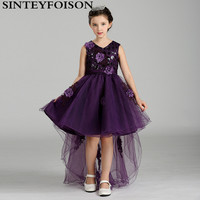 Hot Sale Baby Girl Summer Dress Flowers Princess Dress High Grade Europe And America Tail Dress