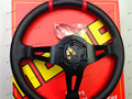 MOMO New 350mm Racing Sport PVC MOMO Steering Wheel(black-yellow/black-red)