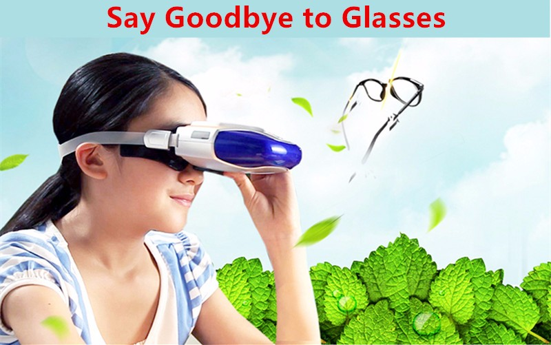 Rechargeable Myopia Cure Machine Short Eye Sight Recovery Device DC Battery Eyes Acupuncture Massaging Massager Laser Radiation  (12)