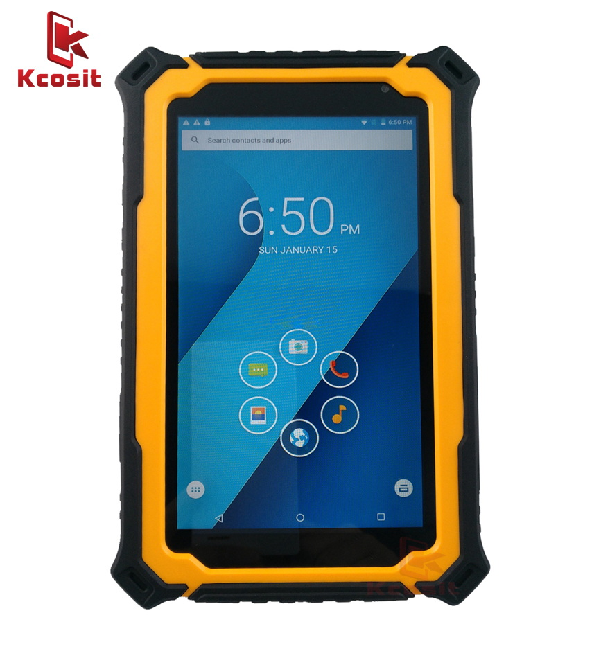 China 4G Mobile Mini PC Tablet Handheld Computer Device Android Rugged Waterproof Gps GNSS 7 Inch 3GB RAM UHF RFID Reader