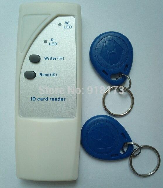 Lector de mano 125 Khz RFID Copiadora Escritor/Copia de Tarjetas de ID Duplicadora + 2 unids regrabable EM4305 Rfid Tag