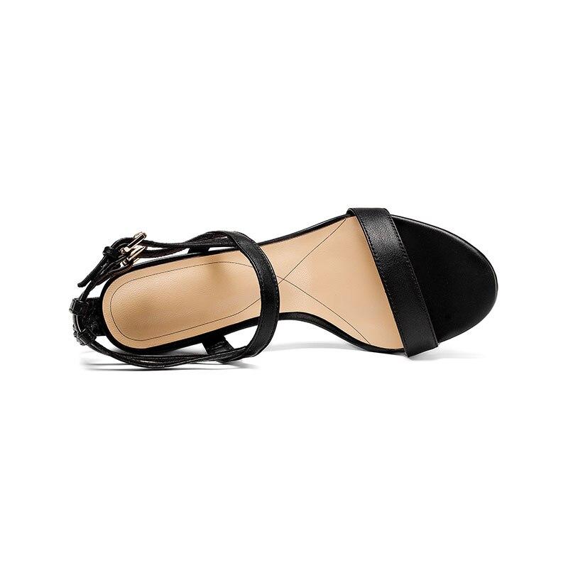 Genuino Tacones Negro Altos Sandalias Cuero Zapatos Mujeres Fiesta Sexy Marca Hebillas Graduación Coloridos Mujer De Diseño Doratasia Moda oro Cristales Uq5YU