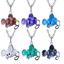 Mouse Antique Alloy Pendant Fashion pendant with colorful enamel Pendants necklace for women mouse pendant trendy jewelry